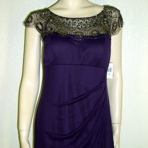 Xscape NWT Purple Long Formal Gown #7119